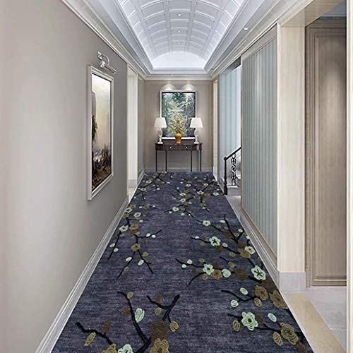 Floor Rug Runner Chic Interesting Contemporary Painting Art Design, Non Slip Rubber Back Low Profile for Hallway Entry Way Floor Carpet (Color : A, Size : 60×300cm)