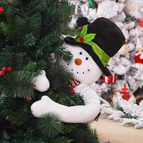 Christmas Doll Decoration,New Snowman Christmas Santa Claus Tree Topper Hu g Xmas Indoor Decoration Gifts