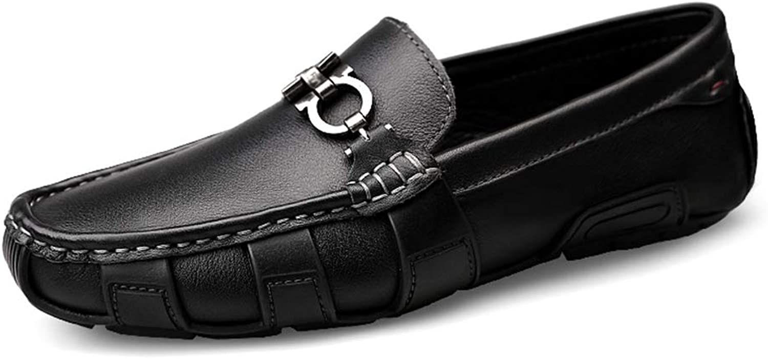 CHENXD shoes, Men Fashion Personality British Style Driving Loafers Casual Rustproof Metal Button Boat Moccasins
