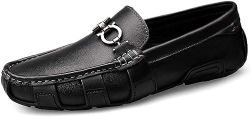 2019 Chaussures Homme Homme D'été Hommes Mocassins Chaussures Mocassins De Conduite Occasionnelle Pour Hommes Personnalité De La Mode Britannique Style Antirouille Métal Bouton Bateau Bateau Mocassins  plus d'ordre