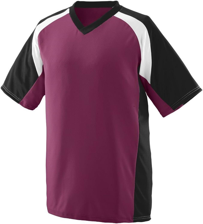 Augusta Sportswear Men's Nitro Jersey 2XL Maroon Black White