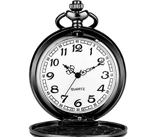 Haoqiongh Reloj De Pared Pantalla Punk Reloj De Bolsillo De Cuarzo Negro...