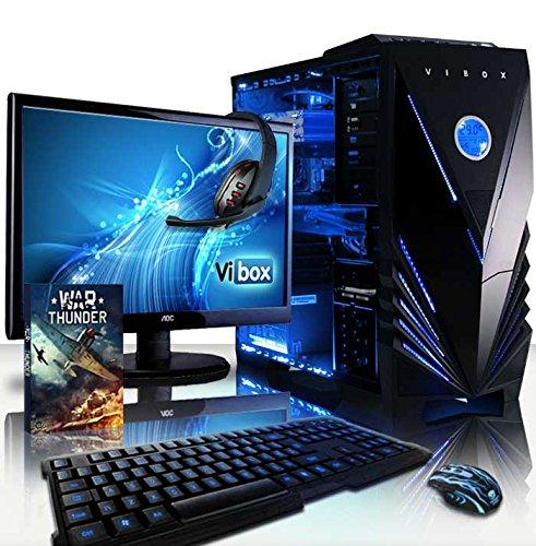 VIBOX Apache Paket 9 - 4.1GHz Sechs Core, GTX 960 Erweiterte, Desktop Gamer, Gaming PC, Computer mit Komplet Paket mit WarThunder Spiel Bundle, Windows 10 Betriebssystem, 22