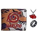 Hombres Niño Anime Naruto Billetera De Cuero De Dibujos Animados Monedero Corto Masculino Mujeres Billetera Titular De La Tarjeta De Crédito