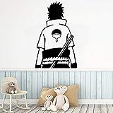 Tianpengyuanshuai Hermosa Caricatura Familia Naruto Pegatinas de Pared Arte Pegatinas de Pared a Prueba de Agua 33X52cm