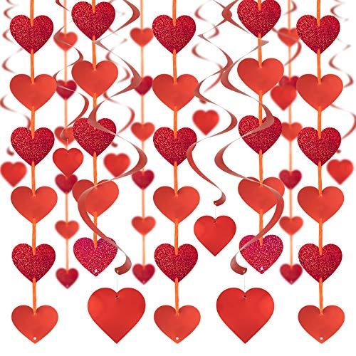 SHYOSUCCE 12 Ghirlanda di Cuore 18 Spirale di Cuore, Decorazioni per San Valentino, Nozze, Compleanno, Celebrazione dell'anniversario e Laurea
