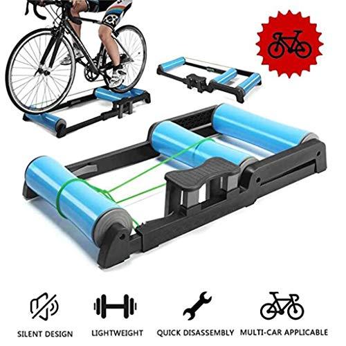 YYDE Moto Trainer Soporte para Bicicletas Rodillos de Plegado Formación Punto de sujeción Trainer, silencioso Ruido Soporte Reducción Bicicleta estacionaria Resistencia Cubierta Trainer Moto