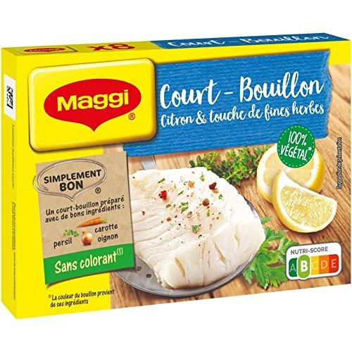 NESTLE MAGGI - Court-Bouillon Citron Fines Herbes 90G - Lot De 4 - Livraison Gratuite