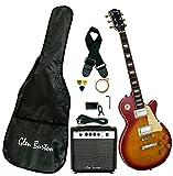 Glen Burton GE320BCO-CBS Classic LP-Style Electric Guitar, Cherry Bur