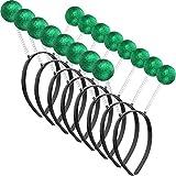 8 Pieces Martian Headband Alien Headband Antenna Headband Ball Head Boppers for Fancy Dress Party and Headwear Accessory (Green)