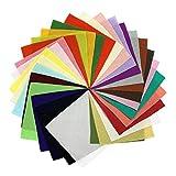 一越ちりめん 無地 はぎれ 30色セット 10cm×10cm(30枚入)色の一覧表付き