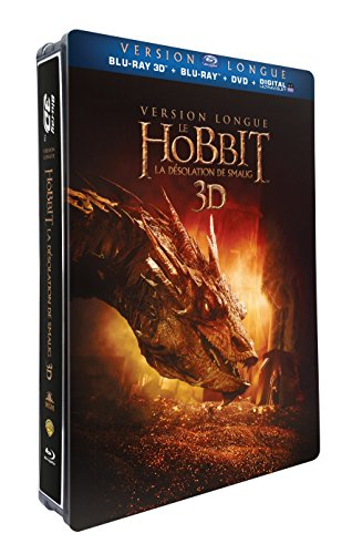 Le Hobbit : la désolation de Smaug - version longue - Blu-ray 3D + Blu-ray + DVD + DIGITAL Ultraviolet - Edition Limitée Steelbook™ Jumbo