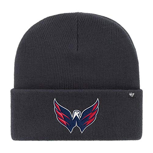 '47 Brand Washington Capitals Navy Haymaker NHL Cuff Knit Beany Beanie One Size Forty Seven