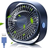 SmartDevil Ventilador USB, Mini Ventilador USB Silencioso, Personal Portátil Ventilador PC, para Oficina/Hogar/Viajar/Acampar, Alimentado por USB (Azul)