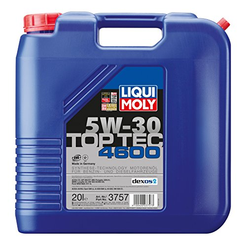 Liqui Moly 3757 TopTec 4600 5W-30 Hochleistungs Leichtlauf Motorenöl 20L