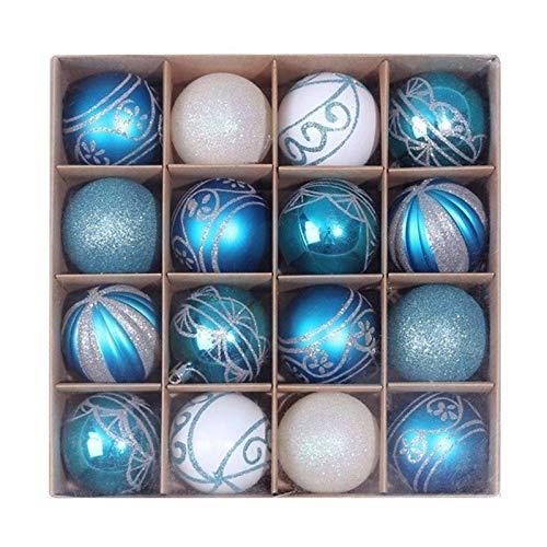 ZHANGAIGUO 2.36 Inches Christmas Ball Ornament Christmas Tree Colorful Balls Christmas Tree Decorations, for Home Pendant Box 6cm/16pcs (Color : 2, Size : 6cm)