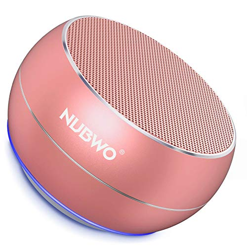 NUBWO Portable Bluetooth Wireless Speaker with Bass TWS, Bulti in Mic, 15H Playtime Small Speaker for Iphone, iPad, Mac, Tablet, Echo