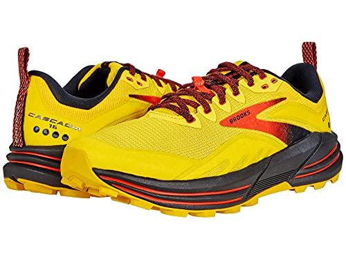 Brooks Cascadia 16, Scarpe da Corsa Uomo, Yellow/Black/Grenadine, 43 EU