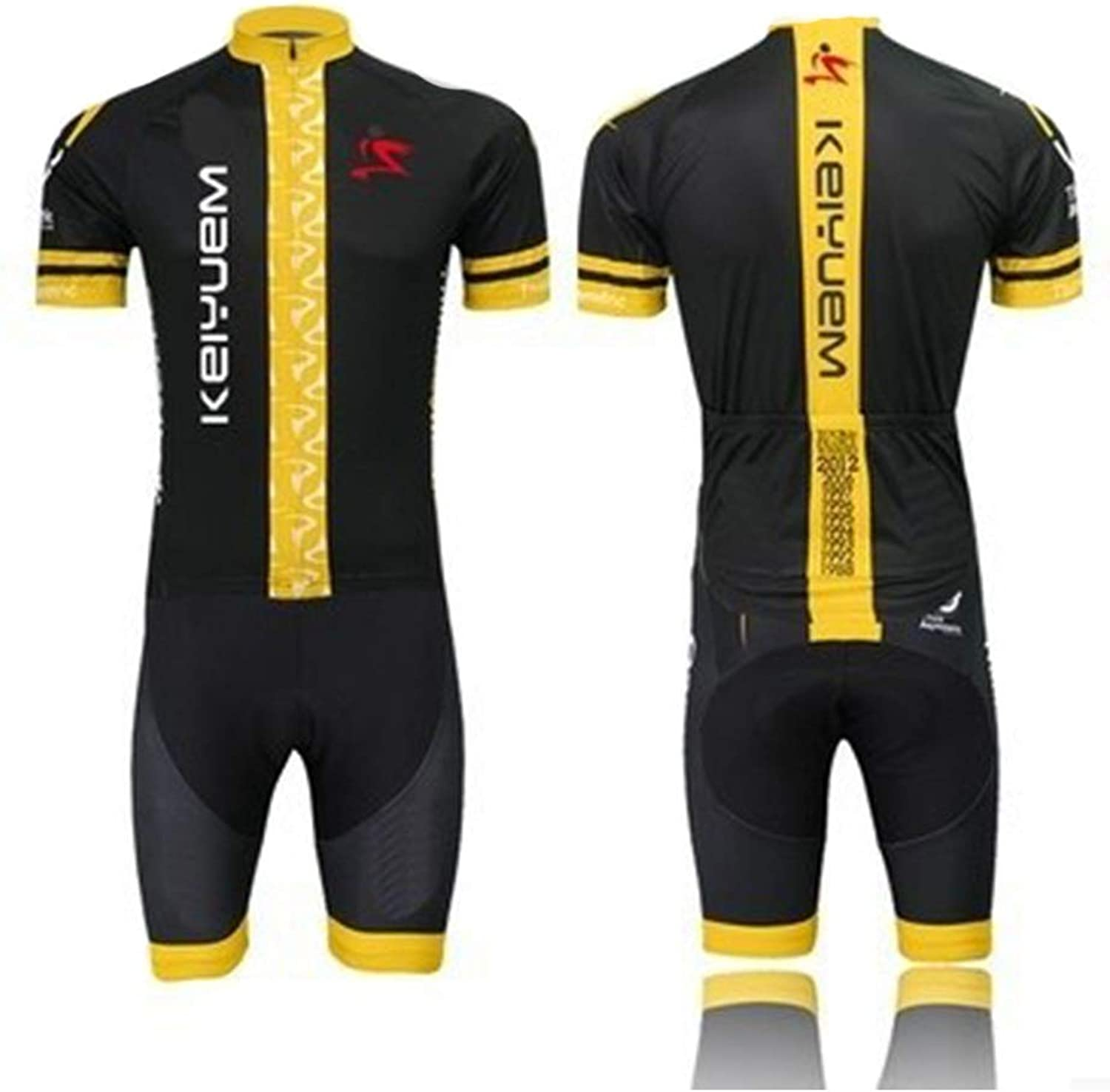 Summer Men and Women Short-Sleeved Jersey Suits Bicycle Mountain Wheel Slippery (color   4, Size   XL)