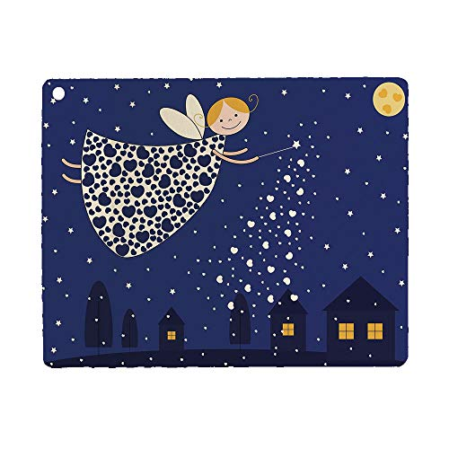 Bumina Night Case for iPad 9.7 2018 2017(6th Gen, 5th Gen)/iPad Air 2/iPad Air,PU Leather Case with Stand Function/Auto Sleep Wake Up Blue Marigold White