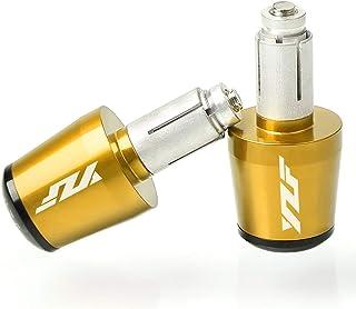 22mm 7/8'' Motorrad Lenkergriffe Endkappen Aluminium für Yamaha YZF R1 R3 R6 R6S R25 R125 600R Gold