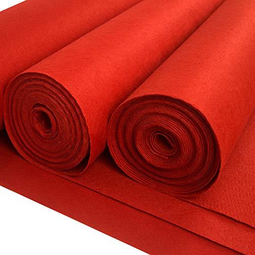 Corredor De Bodas Pasillo Interior Exterior Boda Alfombra Corredor De Pasillo Rojo Desechable De 2 Mm De Espesor Para La Ceremonia De Boda Corredor De La Alfombra De P(Size:1×25m(3×82ft),Color:rojo)