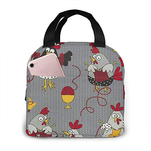 Chicken Knitted Sweater Lunch Bag Reusable Lunch Box Lunch Cooler Tote