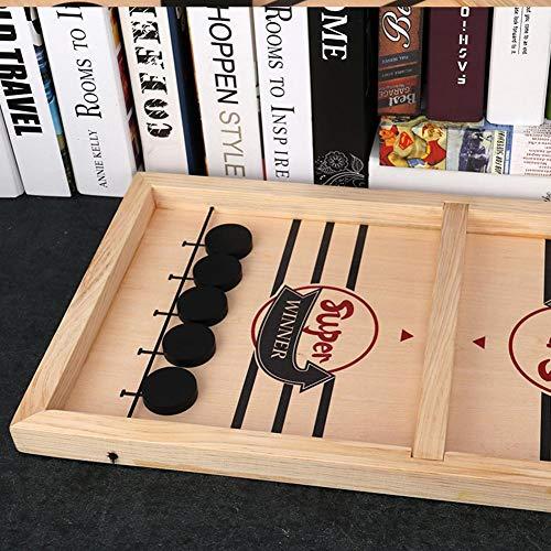 lossomly Class-Z Hölzerne Tischspiele Spielzeug Slingshot Hockey Party Spiel Hüpfen Schachspiel Finger Hockey Brettspiel für 2 Spieler Tabletop Spielzeug Present Dependable