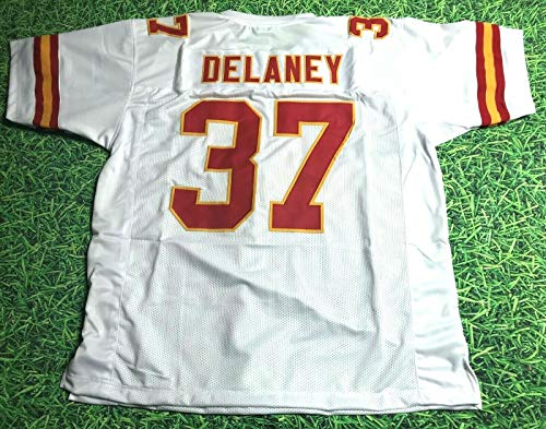 JOE DELANEY LIGHTWEIGHT WHITE KANSAS CITY CUSTOM STITCHED NEW FOOTBALL JERSEY MEN'S XL