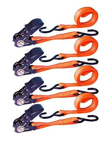 MotoDia Spanngurt mit Standard-Haken, 4er-Pack