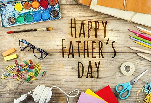 5x3ft Vinyl Photography Background Father's Day Theme Photo backdrops Wood Plank Plank Wood Latte Happy Father's Day Family Party Wallpaper Decoration Dad Photography Studio Accessories