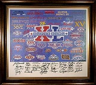 Super Bowl MVPs Framed Autographed 36