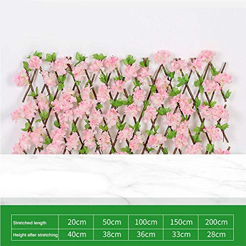 luckything Finelyty Artificial Hanging Plant With Ivy Leaves, Leaf Hedge Screening, Garden Expanding Trellis Privacy Screen For Home Garden Fence