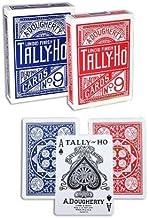 2 barajas de cartas Tally-Ho Fan Back (Blu-Red)