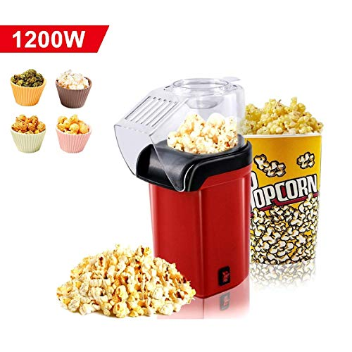 Sale!! Portable Household Popcorn Popper,Fast Hot Air Popcorn Maker with Wide Mouth Design,Electric ...
