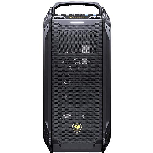 Cougar Case Panzer Max G Full Tower Easily moddable 1 pcs of 120 mm Fans Non LED tempred Glass Panel, schwarz, CGR-6AMKB-G