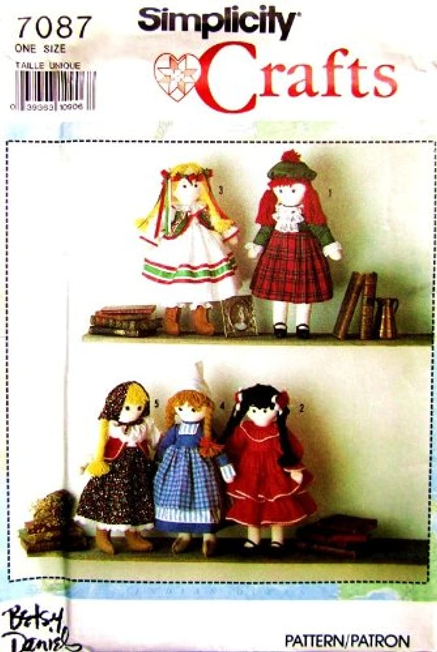 SIMPLICITY Sewing Pattern 7087 International Dolls and Clothes ~ Scottish Spanish Polish Dutch Russian by Betsy Daneils ~ Sewing Craft Pattern