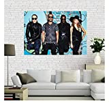MTHONGYAO Poster Black Eyed Peas Poster Hip Hop Rap