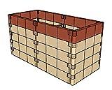 Aufbausatz mit Stabilisierungs-Set für Anzucht-Frühbeet od. Hochbeet Profiline''terracotta'' (130x6