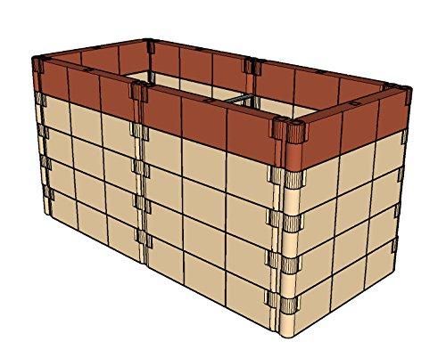 Aufbausatz mit Stabilisierungs-Set für Anzucht-Frühbeet od. Hochbeet Profiline