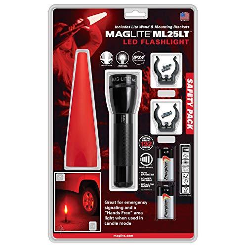 MAGLITE Pack De Seguridad Ml25 Linterna, Sin género, Negro, Talla Única