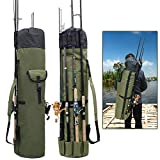 OROOTL Fishing Rod Bag Pole Holder Carrier - Portable Fishing Tackle Gear Backpack Waterproof Stand...