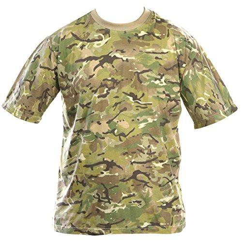 Kombat UK pour Homme Adulte, Camouflage, t-Shirts XL British Terrain Pattern