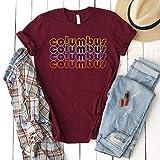 Hot- Columbus City Néon Lights T-Shirt Gift Columbus Ohio Columbus Tourist Gift Columbus Souvénir Uniséx Téé