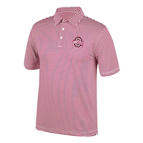 Top of the World Ohio State Buckeyes Men's Team Color Stretch Bunker Polo, Large
