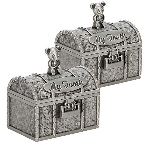 Schmucketui Exquisite Ornament Schatzkiste Schmuck Aufbewahrungsbox Baby Zahn Andenken Box Ringe Halsketten Hochzeitstag Baby Zahn Locken für Weihnachten