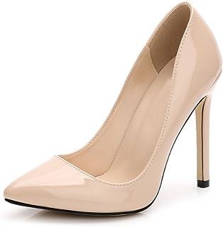 OCHENTA Women's Patent Leather Slip on Stiletto Dress Pump