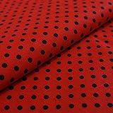 Hans-Textil-Shop Stoff Meterware Punkte 5 mm - Für