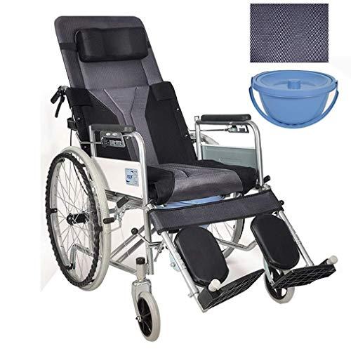 Mr.T/toiletstoel voor gehandicapte liggende rolstoel commode, high back hoofdsteun toiletstoel, verdikte ademende in elkaar grijpen, sofa, stoel, ABS-ski-armleuningen en verstelbare rugleuning