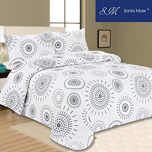 Sonia Moer Premium Duvet Cover Set Indian Ink (Super King)